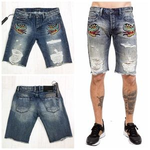 Cult Of Individuality Rebel Distress Fray Short